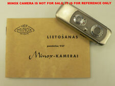 VEF RIGA MINOX DIRECTIONS FOR USE IN LATVIAN, RARE