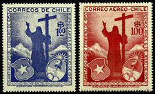 CHILE, VISIT OF PRESIDENT PERÓN TO CHILE AND IBAÑEZ TO ARGENTINA, MNH SET