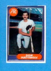 DON MATTINGLY Puffy Sticker New York Yankees