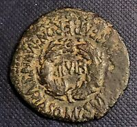 Tiberius 14-37AD Turiaso Spain Ancient Roman AE 29 IIVIR In Wreath 10.41g