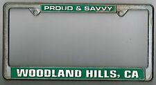 RARE Woodland Hills California HOMETOWN PRIDE Vintage Metal License Plate Frame