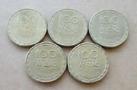 AUSTRALIA...2014 TO 2018 100 YEARS OF ANZAC SET OF 5 x  $1.00 DOLLAR COINS