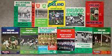 More details for 11 x england v northern ireland programmes