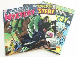 HOUSE of MYSTERY LOT X3 # 180 192 & 225 - 70's DC - Neal Adams / 100 Pager Nice
