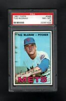 1967 TOPPS #348 TUG MCGRAW NEW YORK METS PSA 8 NM/MT CENTERED!