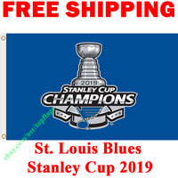 St. Louis Blues Stanley Cup Champions 2019 Flag Banner 3x5 ft NHL Hockey NEW