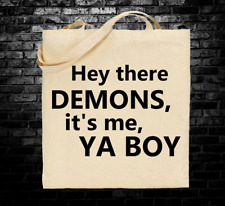 Buzzfeed Unsolved Demons inspired tote bag long handles Supernatural True Crimes