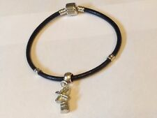 Windmill TG310 Made From Fine English Pewter on a Faux Leather Snake Bracelet