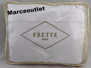 Frette Grace Cotton Sateen QUEEN Flat Sheet & Pillowshams Set Milk White