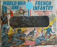 Airfix 1/72 World War One 48 Stück FRENCH INFANTRY original aus 1970-er ! RARE !