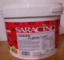 """GLASSE A SPECCHIO AL GUSTO """" LIME """"  SARACINO PER copertura di semifreddi mousse"""
