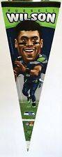 """Seattle Seahawks Russell Wilson Caricature Premium Player Pennant 12"""" x 30"""""""