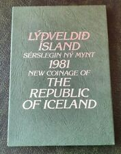 More details for 1981 new coinage of the republic of iceland proof coin set