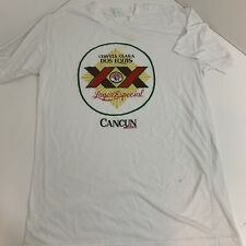 Vintage Dos Equis Beer T-shirt Cancun Mexico Spring Break Size Extra Large XL