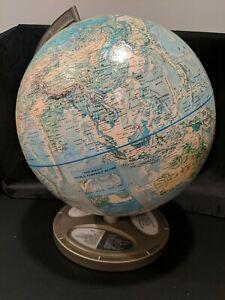"Vintage 14"" Rand McNally World Portrait Globe Raised"