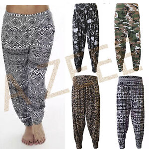 Women' Harem Ali Baba Long Pants Trousers Ladies Baggy Hareem Leggings Plus Size