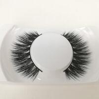 Lady Black Luxurious 100% Real Mink Long Natural Thick Eye Lashes False Eyelashe