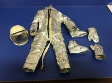 GI Joe Hasbro Action Pilot Astronaut Foil Space Suit Helmet Gloves & Boots