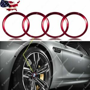 Red Alloy Car Wheel Rim Surrounding Hub Rings Trim For BMW 68mm Center Cap