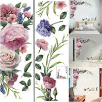 Wall Sticker Peony Rose Flower Wall Decal Nursery Home Sticker Decor Art Mural