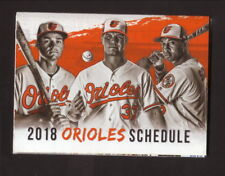 Baltimore Orioles--2018 Pocket Schedule--Visit Sarasota--Mancini/Schoop/Bundy