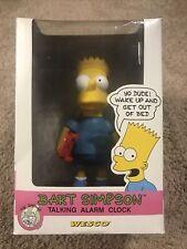 1991 BART SIMPSON WESCO TALKING ALARM CLOCK NIB. The Simpsons. Homer. Marge Lisa