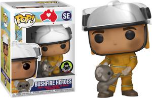 Bushfire Heroes Firefighter With Koala Funko Pop Vinyl NEW Popcultcha Exclusive