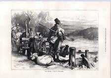 1872 Irish Sketch Waiting For The Ferry Across River Shannon