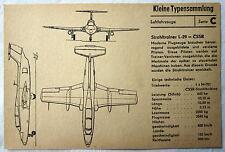 DDR Kleine Typensammlung Luftfahrzeuge - Strahltrainer L-29 CSSR