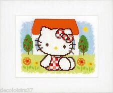 Vervaco  0148646  Hello Kitty  L'Eté  Kit  Broderie  Point de Croix  Compté