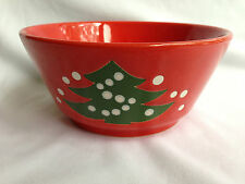 Waechtersbach Christmas Tree Round VEGETABLE Serving Bowl Holiday Red