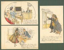 MAZZA ALDO. MOKAR caffè coloniale. Tre cartoline pubblicitarie. Circa 1925