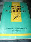 LA LITTERATURE FRANCAISE DU SIECLE CLASSIQUE PAR V. L. SAULNIER N.95