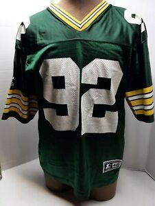 Super Clean 1990s Reggie White Green Bay Packers Starter Adult Jersey sz 46
