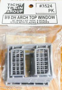"Tichy Train Group #3524 (S Scale) 9/9 DH Arch Top Windows (30x62"") 12"