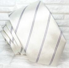 Cravatta bianca e grigia Nuova seta 100% Made in Italy Morgana marca