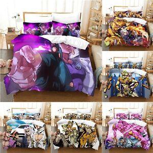 JoJo's Bizarre Adventure Duvet Cover with Pillowcases Bedding Set UK Size