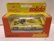 Solido No.1333 Alpine A 442 In Yellow 1:43 Scale