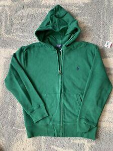 New Ralph Lauren Polo Big Boys Full Zip Hoodie size M(10-12)