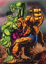 HULK VS THING / 1994 Fleer Flair Marvel Annual BASE Trading Card #7