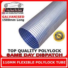 """110mm (4 1/3 """") Universel Réparation Tube D'échappement Flexible Polylock galvanisé 1,5 m"""