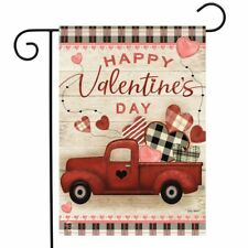 FM57 HAPPY VALENTINE'S DAY RED PICK-UP TRUCK HEARTS  12
