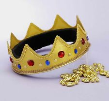 Mardi Gras Royal Crown King Queen Wisemen Adult Costume Accessory Gems Adjustabl