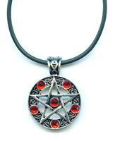 Halskette Pentagramm Necklace Drudenfuß Pentakel Fünfstern magie Esoterik x