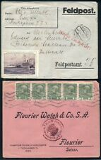 AUSTRIA/HUNGARY WWI covers, 2 in the lot, censored & one w/label, VF