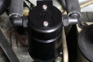 JLT 99-04 Ford Mustang SVT Cobra Driver Side Oil Separator 3.0 - Black Anodized