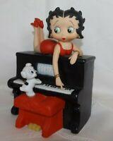 Betty Boop San Francisco Music Box Company - Piano & Puppy Dog - Rare 1997