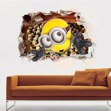 3D Despicable Me 2 Minion  Window View Wall Sticker Decal Finish size 57*87 cm