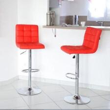 2*Tabouret de bar 9treillis fauteuil Chaise Pivotant réglable 93-113CM à la mode