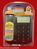 Black Wall Desk Corded HOME TELEPHONE Landline w/LCD Caller ID & Flashing Ringer